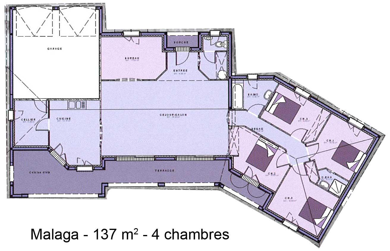 Modele Et Plans Malaga 4ch Du Constructeur Maisons Sic