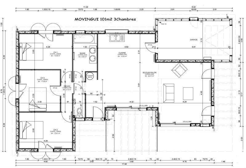 mod le et plans sylveal movingui du constructeur les maisons sylveal. Black Bedroom Furniture Sets. Home Design Ideas