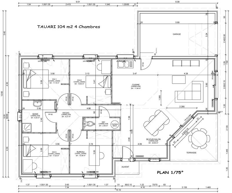 Modele Et Plans Sylveal Tauari Du Constructeur Les Maisons Sylveal