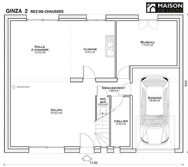 plan etage maison 35m2 ventana blog. Black Bedroom Furniture Sets. Home Design Ideas