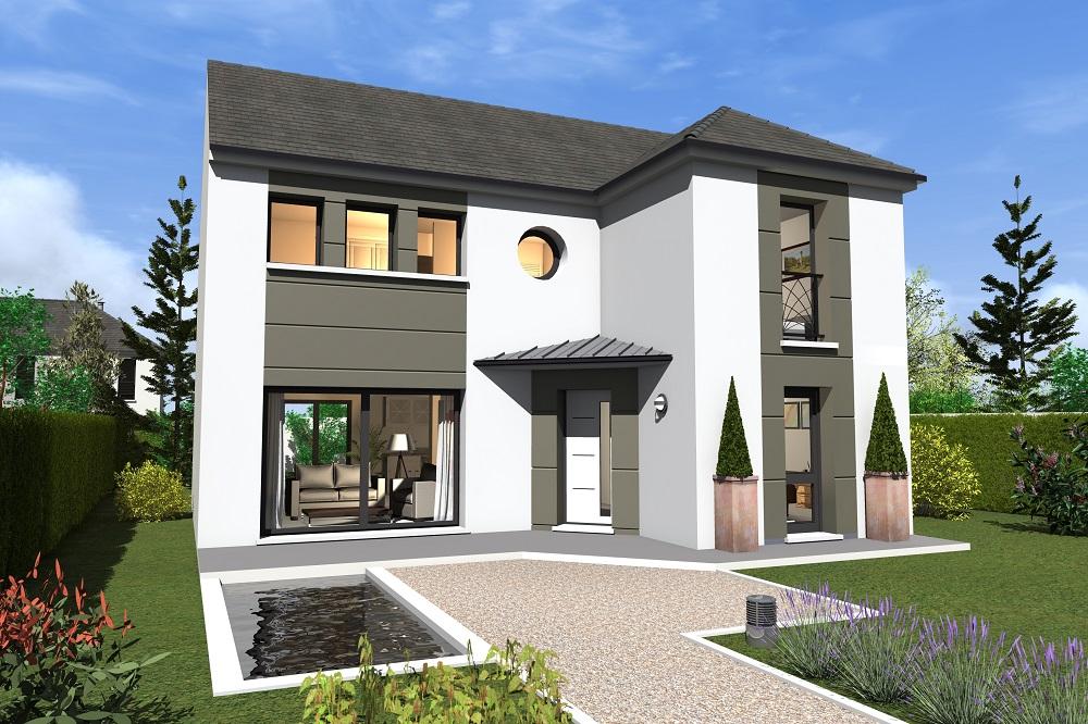 Mod le et plans trocadero 140 du constructeur berval for Construire ma maison en 3d